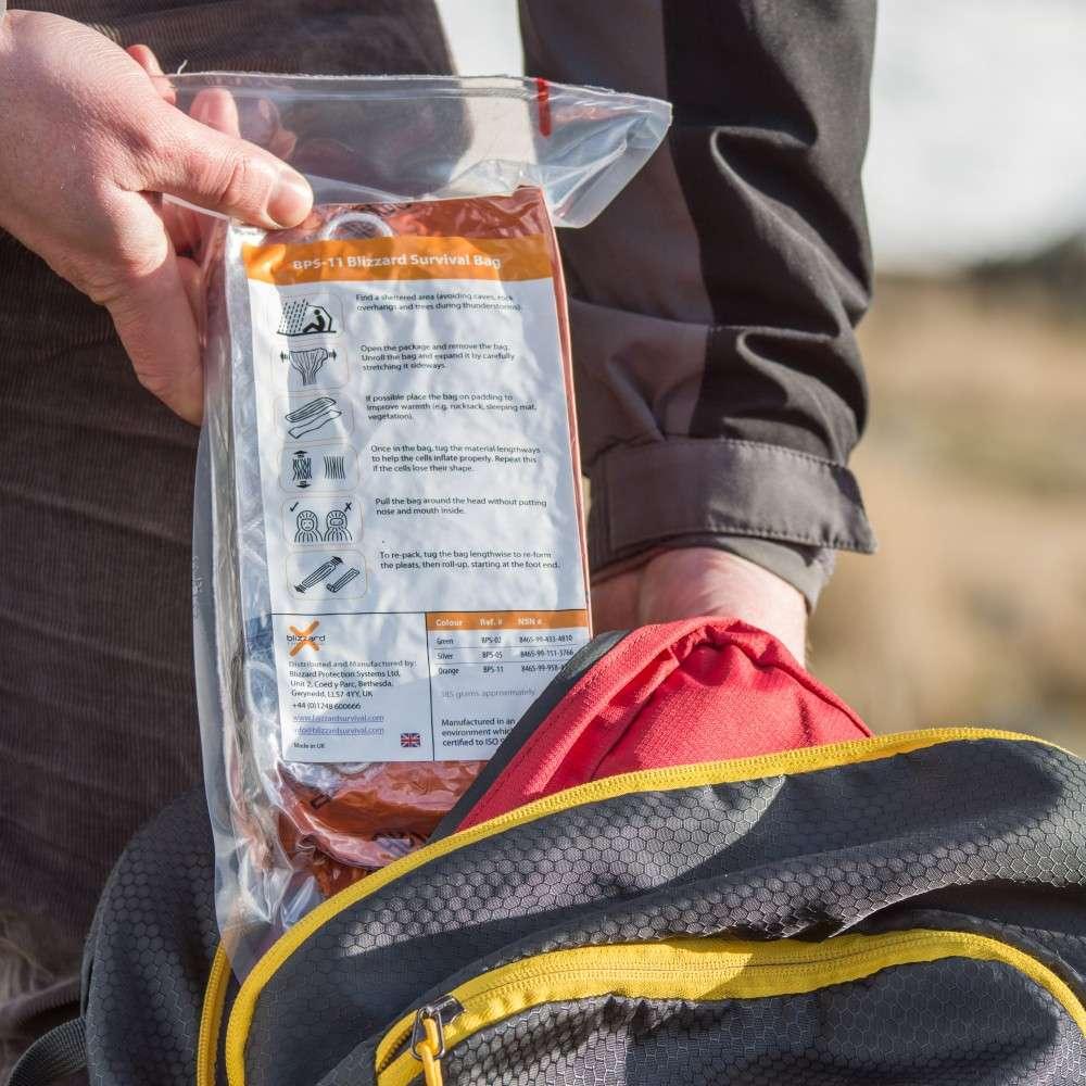 Lifesystems Survival Bag Wind /& WaterProof DOE recommended Orange